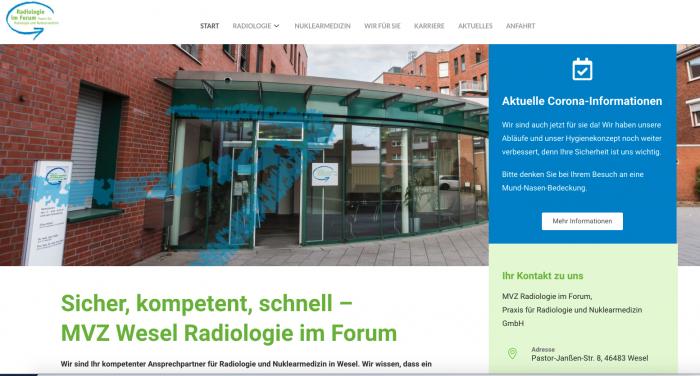 MVZ Radiologie im Forum mit neuer Website